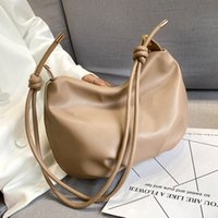 Solid Casual Shoulder Bag For Women 2020 Trend Crossbody Bag Hand Hobos Winter Soft PU Leather Handbags Travel Elegant C1223
