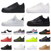 Nike Air Force 1 AF1 Just do it dunk 1 fashion platform scarpe uomo donna casual scarpa skateboard triple bianco Utility rosso basso mens formatori sportivi designer sneakers