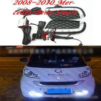 Automobile 2 PZ DRL per Smart Fortwo 2008 2009 2010 2011 Guadagna diurna Luci diurna FOG Head Lamp Cover Car Styling1