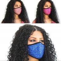 천 장식 조각 플래시 얼굴 패션 레이디 멀티 컬러 접이식 Mascarilla 반사 통기성 보호 소녀 Mascherine 6xb G2 마스크