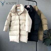 HXJJP Thick Jacket Women Winter Outerwear Coats Female Long Casual Warm Oversize Puffer Jacket Parka Branded 201019