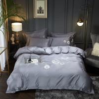 Conjuntos de ropa de cama Conjunto de diente de león Cubierta de edredón de bordado Long-Staple AlmohadaCasas de almohadas Reina King Size Ropa de cama 4pcs 2021