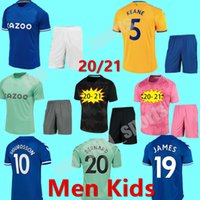 2020 2021 James Rodriguez Soccer Jersey Richarlison Calvert Lewin Football Shirts Men Kids Football Kits 20 21 حارس المرمى Robin Olsen Jersey