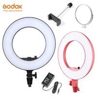 Godox LR180 27W Anneau LED Vidéo Lumière froide Température de couleur avec tableau blanc laissant passer la lumière Téléphone direct Support pour tournage