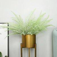 Flores decorativas grinaldas folha artificial Pérsia folha - 22.83 em. Altura a simulação de casamento vegetação plantas falsas plástico tropical leav