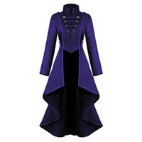Cosplay Jacket Women Gothic Steampunk Overcoat Button Lace C...