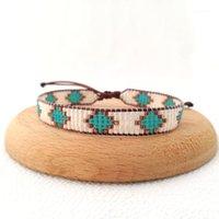 Tenis gallinas de gama alta gallina Rhombus patrón envolver pulseras para mujeres hombres hechos a mano trenzado miyuki bohemian cuerda pulsera pareja joyería