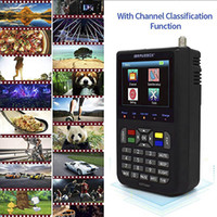 """S2 H.265 V9 Finder HD Satellite Finder DVB -S2 Digitale H.265 Vol 1080P FTA 3.5 """"LCD SAT Finder Meter"""