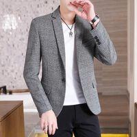 Fatos masculinos blazers lazer terno terno jaqueta versão coreana slim estilo britânico pequeno jovem bonito jovem ocidental maré