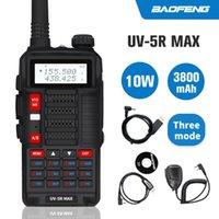 10W Baofeng UV5R MAX Walkie Talkie UV5R max due bande radio bidirezionale UHF VHF ricetrasmettitore USB Charge Caccia Ham Radio Transmitte