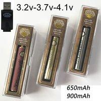 Brass Knuckles Vape Akku 650mAh 900mAh wiederaufladbare 510 Thema Batterie Goldhölzernes Vape Pen Batterien für Brass Knuckles Cartridges