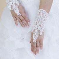 Vendita calda di alta qualità di alta qualità senza dita senza dita antimata paragrafo elegante strass da sposa guanti da sposa all'ingrosso spedizione gratuita