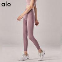 Alo Yoga Novità Nessuna linea imbarazzante Nudo senso Yoga Sport Donne Pantaloni per donna a vita alta Push-up American European Leggings / 50 Q1224