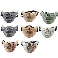 Équipement de tir d'air extérieur Airsoft PROTECTION PROTECTION FACE DE PROTECTION Demi-visage Masque Cosplay Masque Tactique Airsoft Horreur Zombie Masque No03-104
