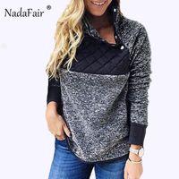Nadafair Faux Fur Oversized Hoodies Women Autumn Patchwork Warm Soft Plush Turtleneck Sweatshirts Plus Size Winter Pullovers Y200930