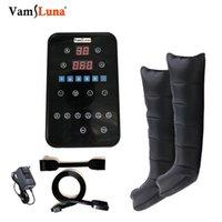 Massaggiatori elettrici VAMS Dispositivo di compressione dell'aria con 6 camere per stivali per terapia di massaggio PRESOTERAPIA, circolazione della pompa più veloce recupero