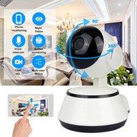 Caméras de surveillance sécurité sans fil Wifi 720P HD Night Vision Two Way Audio sans fil CCTV caméra vidéo Baby Monitor Accueil