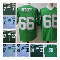 Erkekler Vintage # 7 Ron Jaworski 17 Harold Carmichael 31 Wilbert Montgomery 66 Bill Bergey Futbol Forması # 60 Chuck Bednarik Uzun kollu Jersey