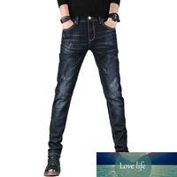 Men pencil leg trendy brand casual stretch slim straight leg new denim spring and summer men's thin jeans