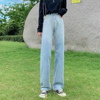 GUUZYUVIZ Blue Jeans Etero Donne Plus Size denim donna pantaloni casual Autunno Inverno jeans delle signore pantaloni ampi Fidanzato