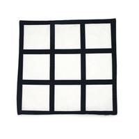 Leerer Sublimation Kissenbezug 40 * 40 cm schwarzes Gitter Wärmeübertragung Wurf Kissenbezug Home Sofa Kissenbezüge CCA3131