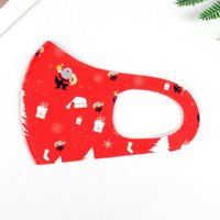 Natal impresso máscaras face para adulto infantil lavável respirável europeu moda à prova de poeira máscaras de malha HWB2368