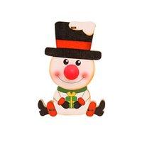 2020 Новое прибытие Оптовая Низкая Moq Мини деревянный кулон Рождество Снеговик Doll с Night Light Дети Подарочные рождественские украшения