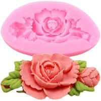Silicone del fiore della Rosa della muffa del bigné di nozze Topper torta del fondente che decora gli attrezzi del sapone in resina Stampi Caramella di cioccolato Gumpaste Stampi