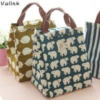Valink Portable Изолированные холст-ланч-мешок Термические пикники-ланч Сумки для женщин Дети Мужчины Охладитель Box Box Bolsa Termica1