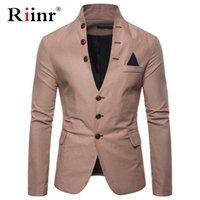 Herrenanzüge Blazer Risin Arrival Luxus Männer Blazer Mode Marke Hohe Qualität Baumwolle Mischungen Slim Fit Anzug Terno Masculino