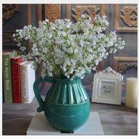 Pure White Wedding Decorações Flores Artificiais Simulação Silicone Silicone Gypsophila Bouquets Casamentos Decoração Flower Venda Quente 1 97RS G2