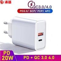 Quick Charg QC 4.0 3.0 PD Зарядное устройство 20 Вт USB Тип C Быстрое зарядное устройство для iPhone XS XR 11 12 Mini Pro Max Xiaomi Samsung S20