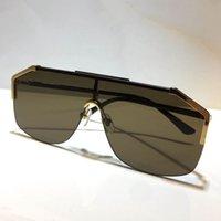 Gafas gafas de sol sin marcar 0291 máscara diseño ornamental moda uv400 gafas 0291s calidad simple lente al aire libre lentes sol gafas de sol unisex otnb