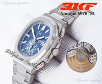 3KF 5976 / 1G Cronografo automatico Automatico 40 ° anniversario Mens Guarda Blue Dial Super Edition Bracciale in acciaio inox 2021 Wathes Puretime PTPP A1