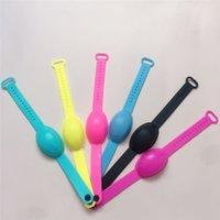 2020 7 cor gel de sílica Mão Desinfectante pulseira portátil silicone pulseira de sabão líquido pulseira dispensador Squeezy cinta bracelete T9I00634
