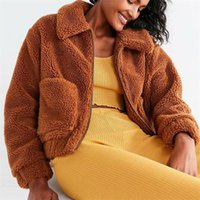 Damen Pelz Faux Trodam Winter Warme Flauschige Leopard Mäntel Jacken Frauen Pelzige Gefälschte Kernteile Männliche Massivfarbe Lammwolle Mantel