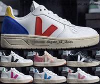 12 случайные молодежные мужчины большие ребенк мальчики вулканизированные мужские теннисные дизайнерские кроссовки роскоши 46 размер US 35 обувь женщин тренеров 5 EUR VEJA V10 кроссовки