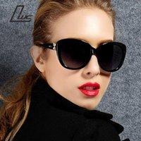 Güneş Gözlüğü 2021 Kadınlar Marka Orijinal Tasarımcı Lüks Denizyıldızı Desen Puan Güneş Gözlükleri Retro Vintage1