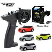 Turbo Racing 1:76 RC Car, Electric Racing RTR Car, Rennfahrer Auto mit 2,4 GHz Remont Controller Neujahrsgeschenk 201223