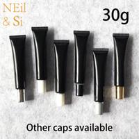 Siyah Plastik Squeeze Şişe 30ml Kozmetik Göz Kremi Yumuşak Tüp El Losyonu Merhem Konteynerleri Ücretsiz Kargo boşaltın 30g
