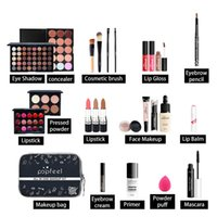 15/20 / 24pc Gesicht Makeup Set Lidschatten + Foundation Basis Matte Lipgloss + Concealer Make-up Pallete + Bürste Voll Starter Make-up-Kit
