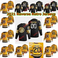 Boston Bruins 2021 Retro Retro Hockey Jerseys Chris Wagner Jersey Joakim Nordstrom Sean Kuraly Connor Clifton Brett Ritchie Custom