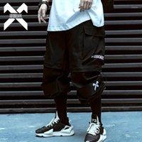Calças masculinas 11 bybb's escuro Hip Hop Cargo Pant Homens Removíveis Verão Curto Mens Juntos Táticos Sweatpants Streetwear BB0141