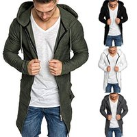 Mens Fashion Jacken New Herbst Male Splicing mit Kapuze Normal Trenchcoat Jacke Cardigan Langarm Outwear