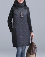 Vestes de femmes Wenqing ins mode coton-rembourré épaissidable chemise veste thermique robe robe de chemise de coupe-vent dessus