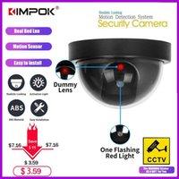 Kimpok منتج جديد قبة محاكاة السرقة إنذار كاميرا وهمية كاميرا دمية مراقب مع أحمر ستروب light1