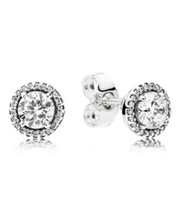 Authentic 925 Silver Diamond Stud Earrings Luxury Designer For Pandora Love Earring With Original Box Uixut