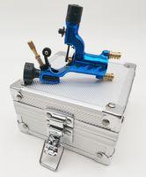 1Pc Tattoo Machine Gun Blue Dragonfly Rotary Good Motor Liner Shader With Aluminium Alloy Silver Case Box For Tattooage Kits Equipment tm012