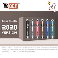 100% Otantik Yocan Evolve Artı XL Vape Buharlaştırıcı Kiti 1400 mAh Pil Buharlaştırıcı Kalem 510 Konu Kuvars Dual Bobin USB Şarj