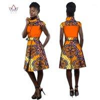 Geleneksel Afrika Ceket Elbise Kadınlar Için Dashiki Artı Boyutu Afrika Tarzı Giyim Balıkçı Yaka Ofis Elbise BRW WY25051